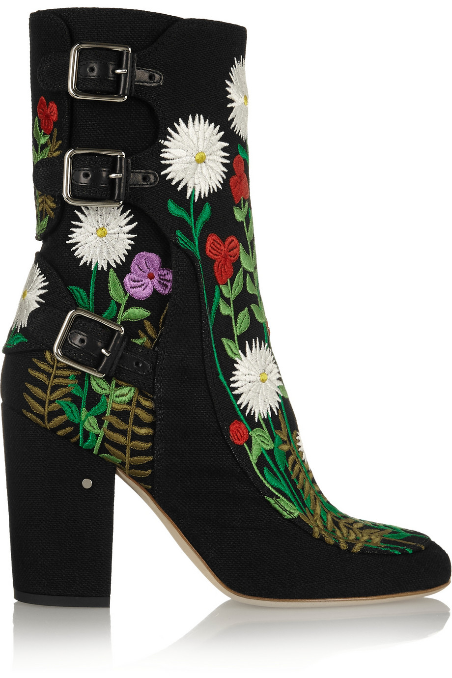 laurence dacade merli floral embroidered canvas ankle