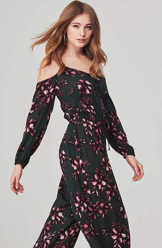 9bcc1e29f801 Lyst - Jack BB Dakota Adaline Floral Jumpsuit in Black
