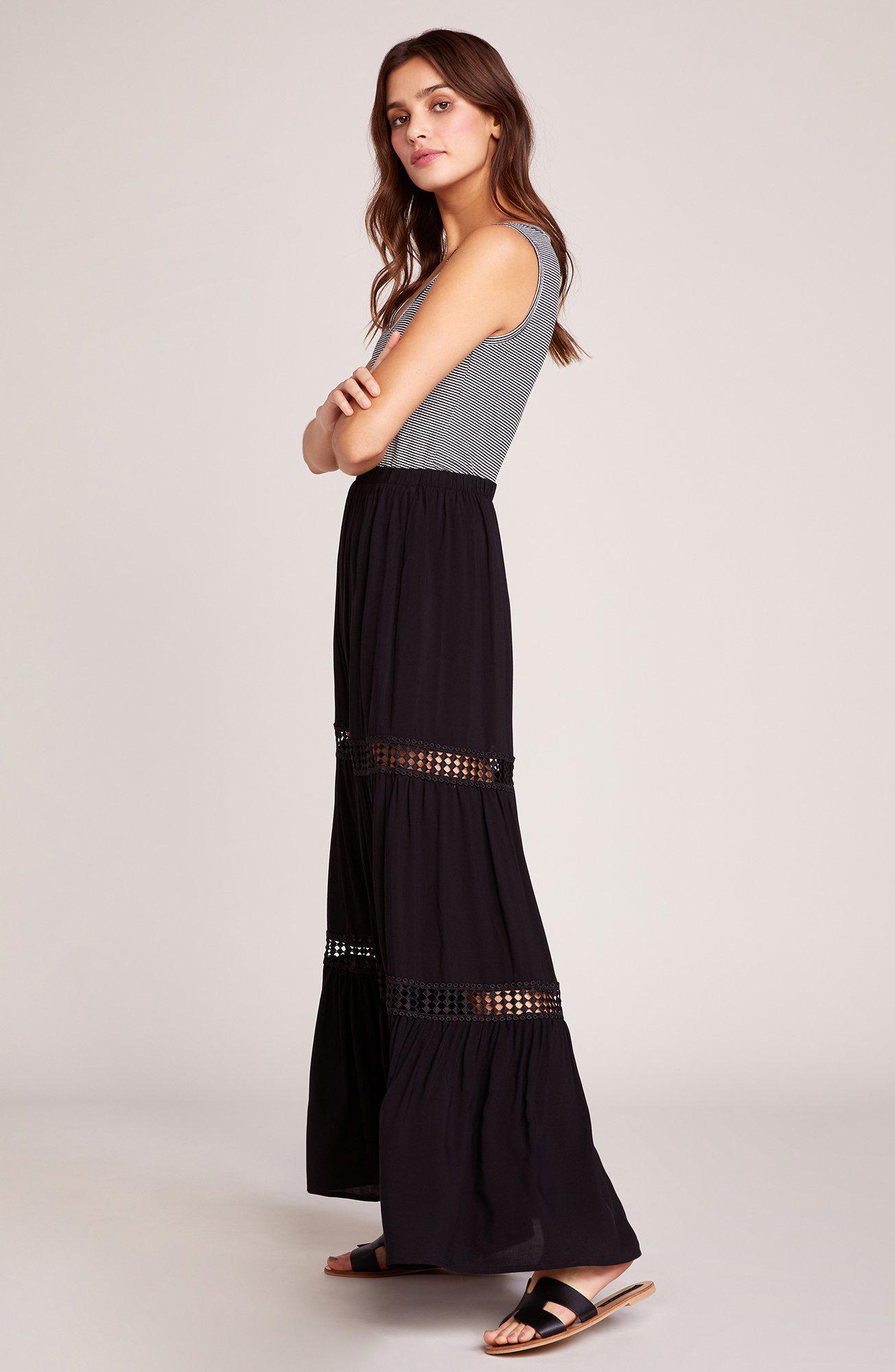 68126b6e7951a1 Black And Brown Maxi Skirt