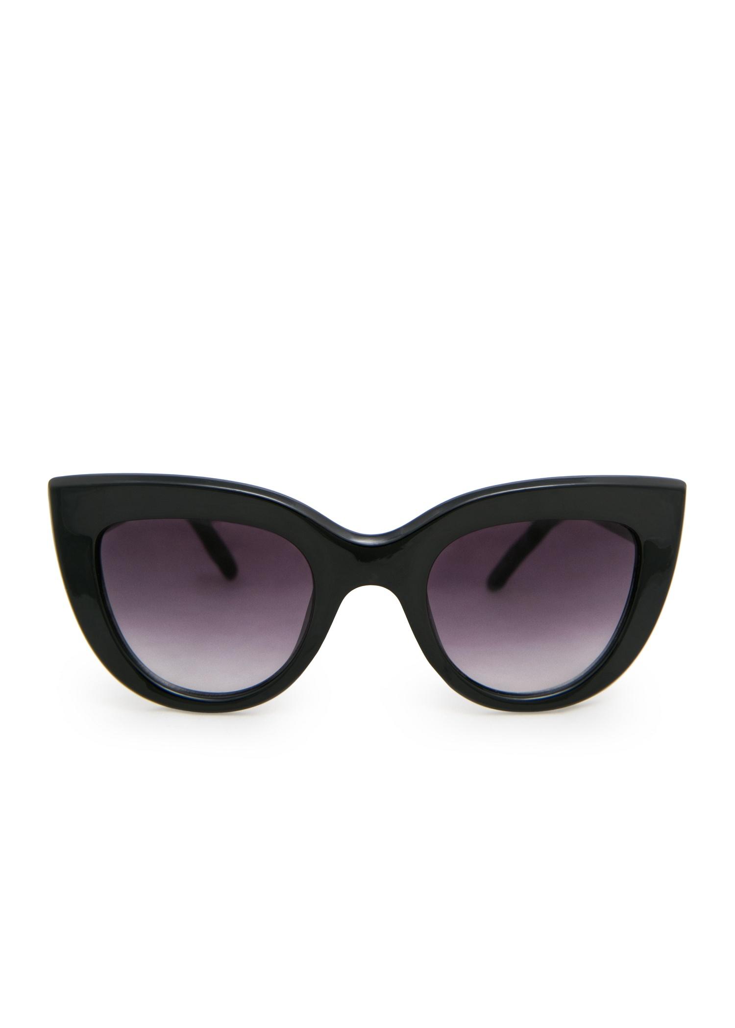 Lyst Mango Cat Eye Sunglasses In Black