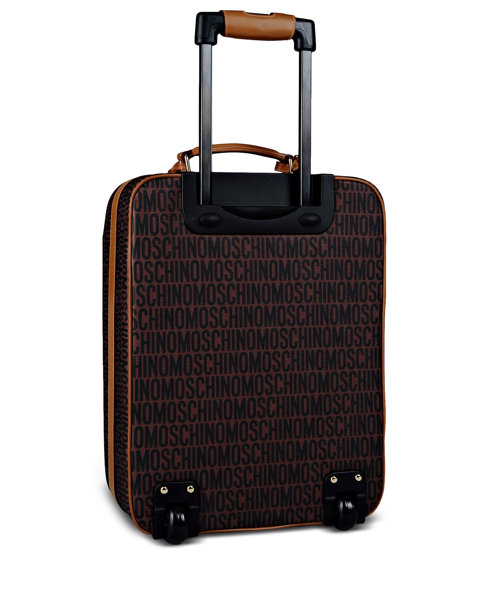 Moschino Wheeled Luggage in Brown | Lyst