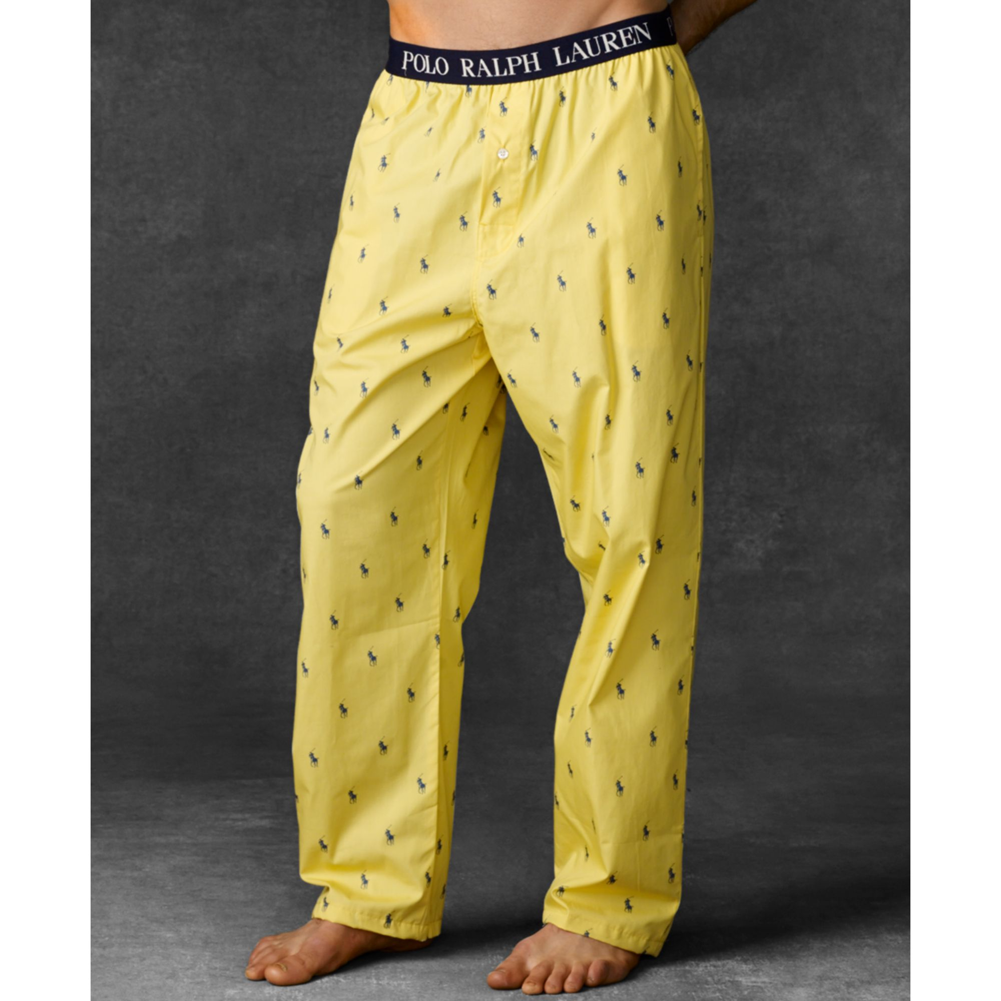 ac0a489d4b Lyst - Ralph Lauren Polo Mens Polo Player Pajama Pants in Yellow for Men