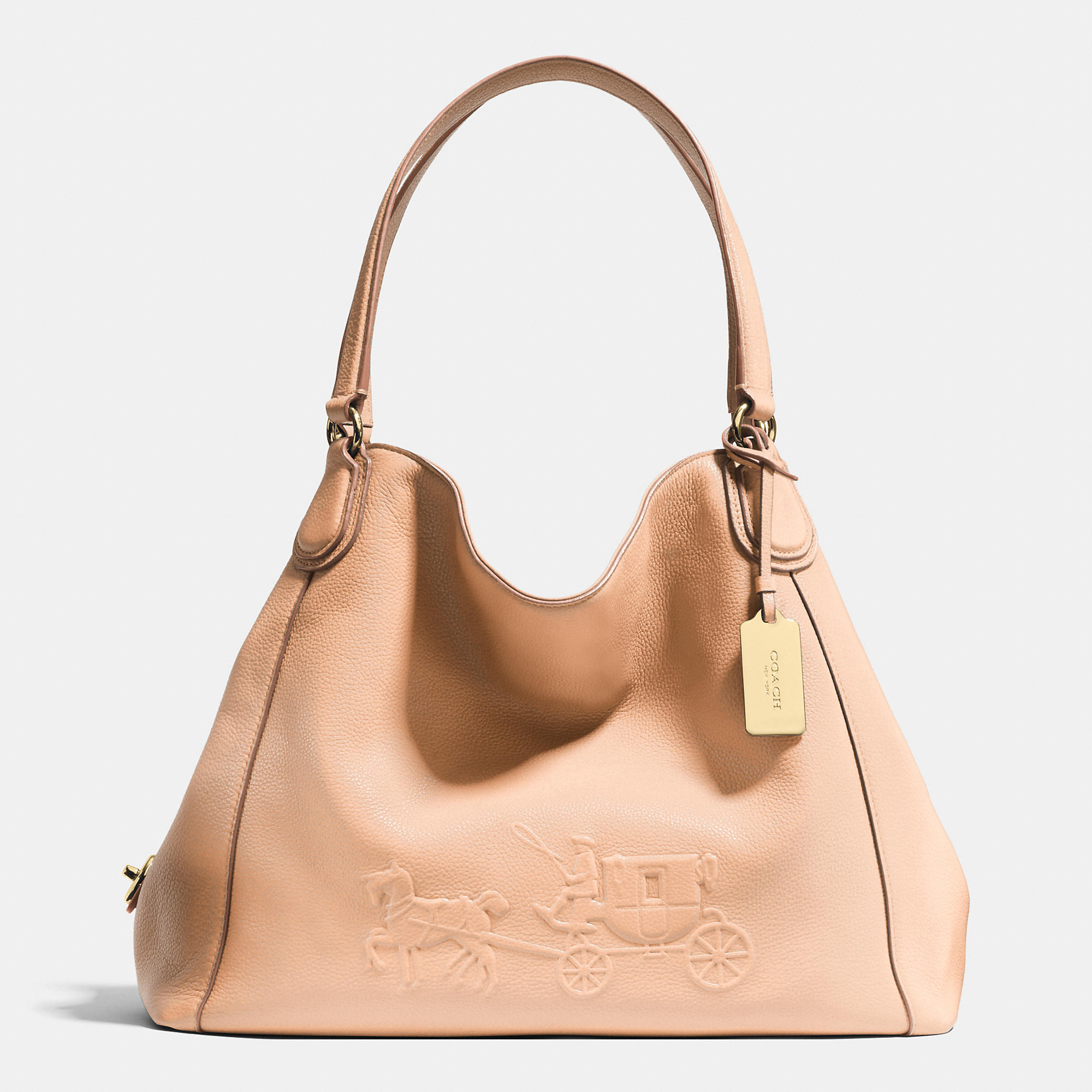 Coach Embossed Horse And Carriage Edie Shoulder Bag In ...