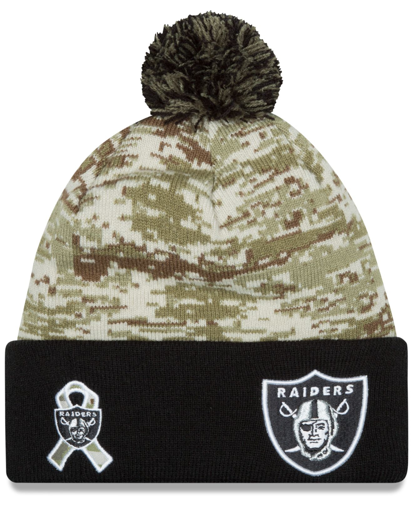 727ee7be0 ... amazon lyst ktz oakland raiders salute to service knit hat in green for  men fbeb8 2cbab