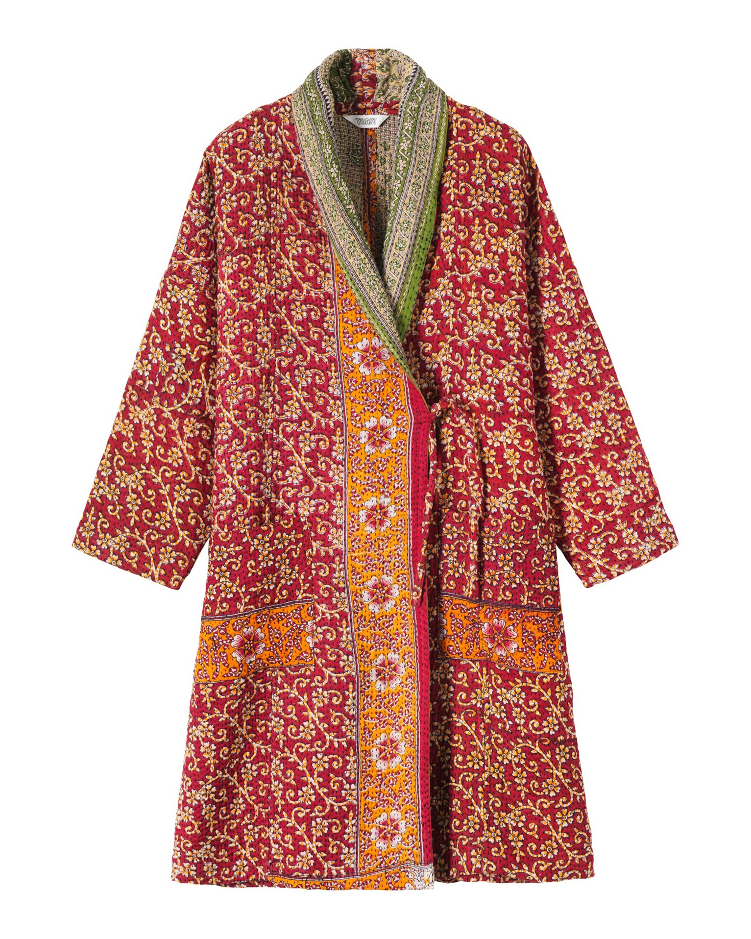 Toast kantha gown in red lyst