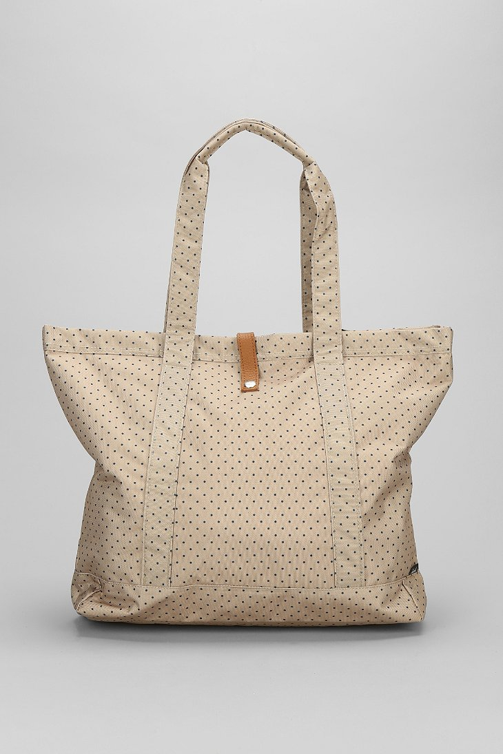 herschel supply co oversized market tote bag in beige for men khaki polka lyst. Black Bedroom Furniture Sets. Home Design Ideas