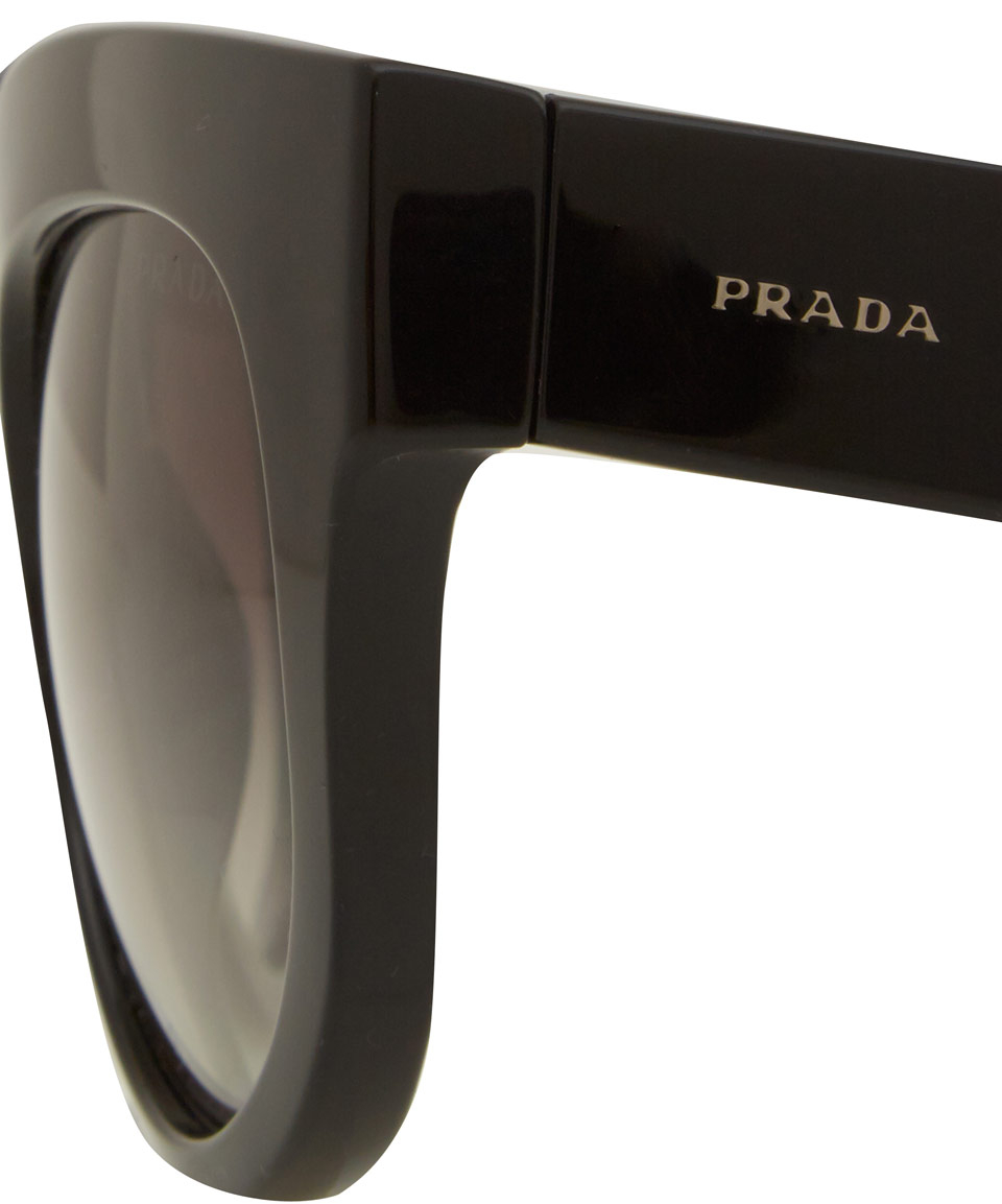 0103f7faac Prada Black Poeme Acetate Sunglasses in Black - Lyst