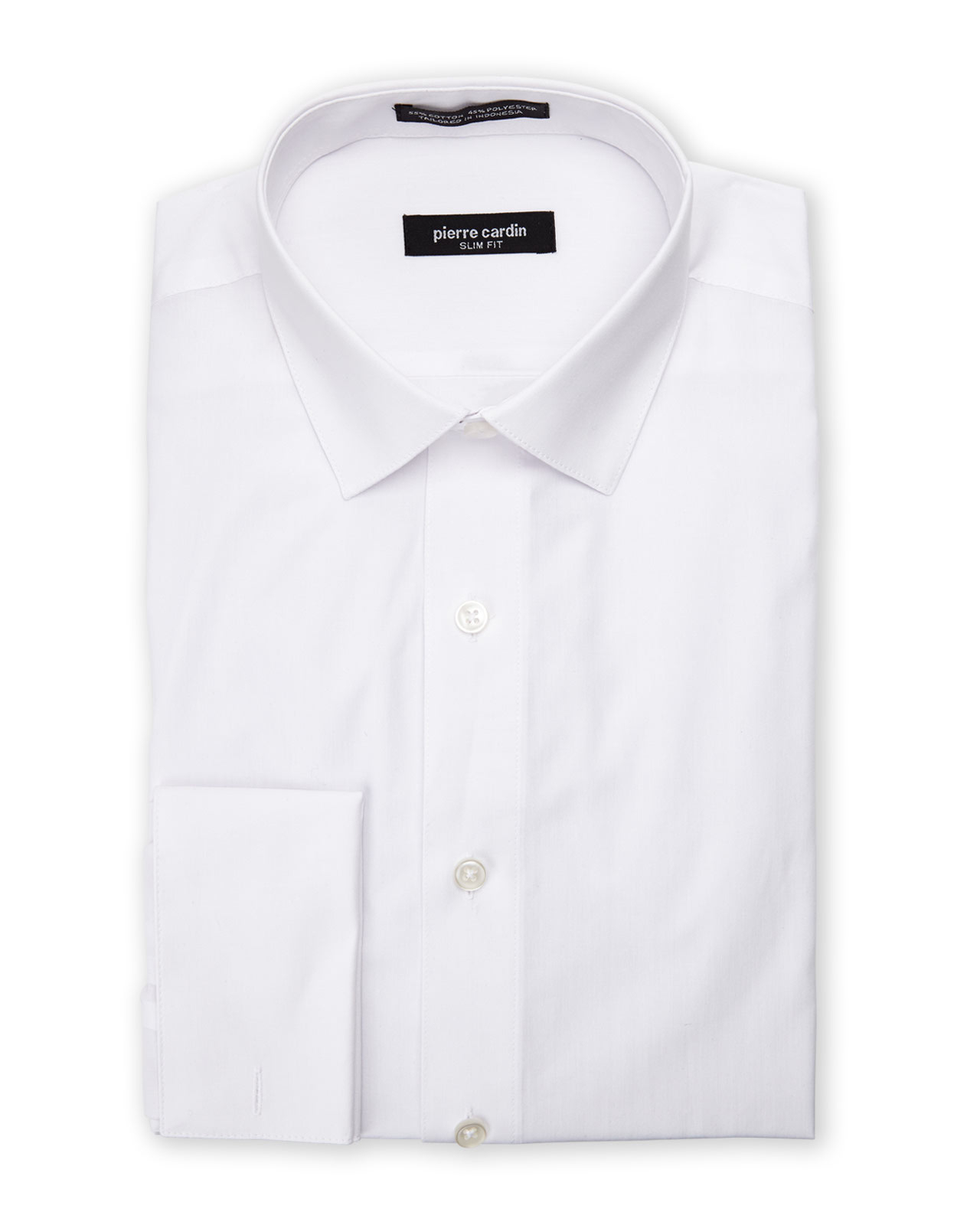 Pierre cardin white slim fit french cuff dress shirt in White french cuff shirt slim fit