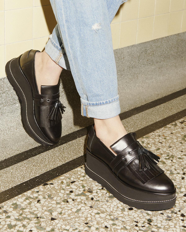 Stuart Weitzman Suede Platform Loafers sneakernews 2015 new sale online new styles Cc5A20WNym