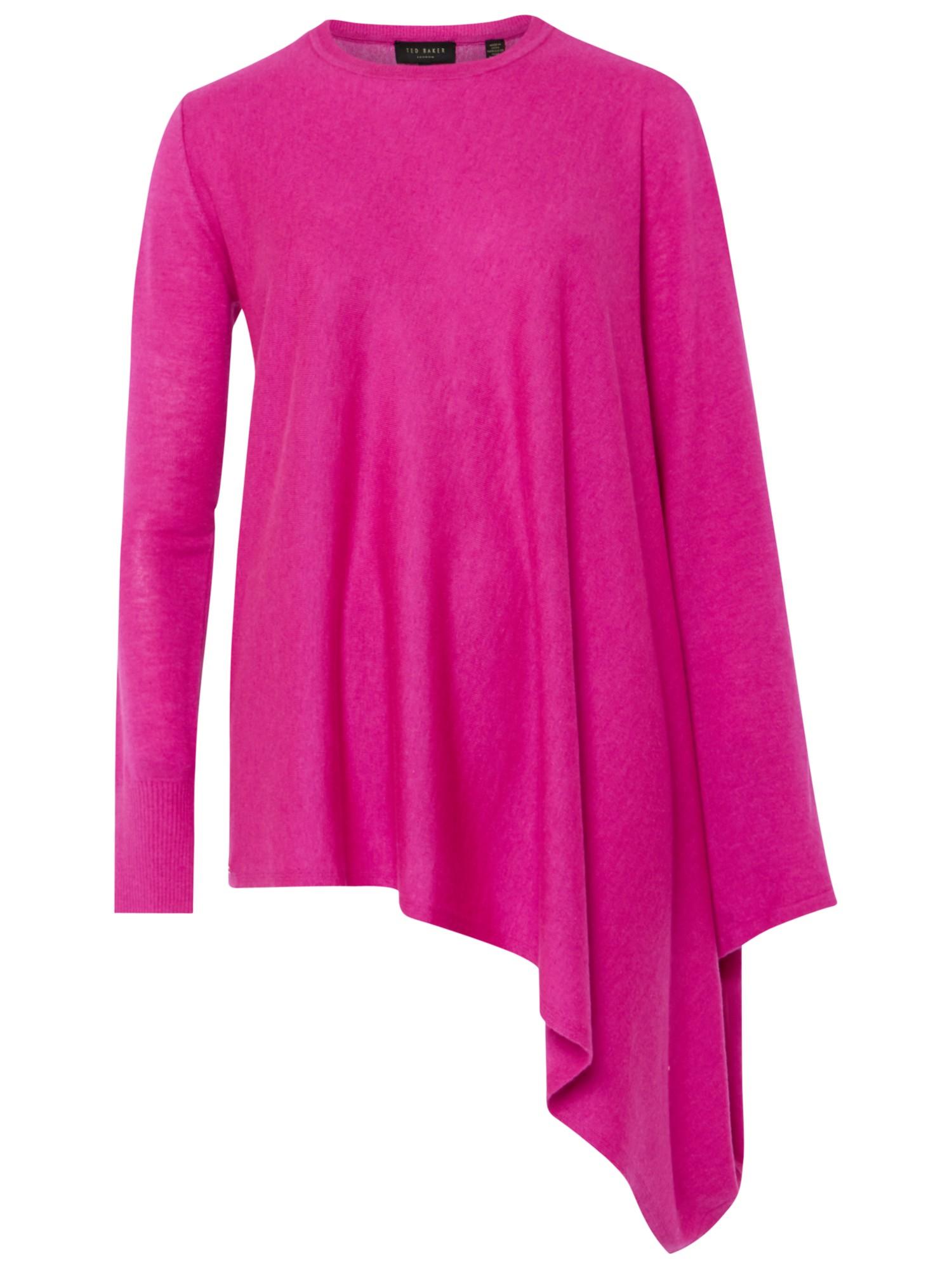 81bb47c5817f Ted Baker Janila Asymmetric Hem Jumper in Pink - Lyst