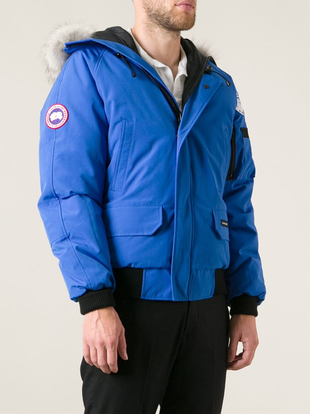canada goose 39 chilliwack 39 bomber in blue for men lyst. Black Bedroom Furniture Sets. Home Design Ideas