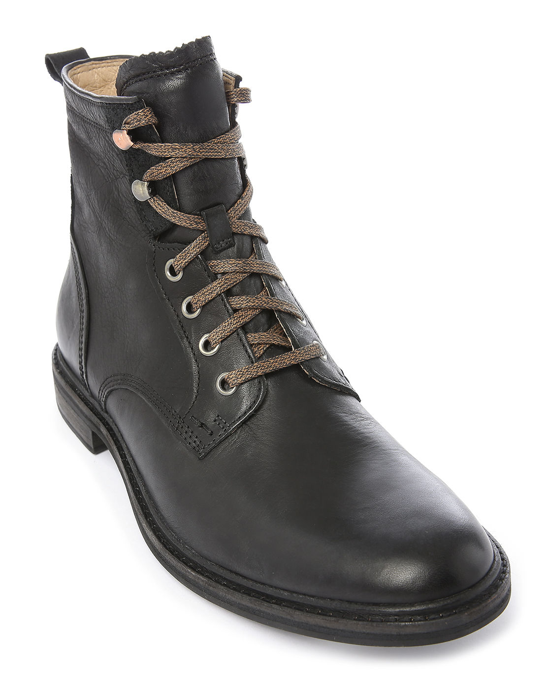 Ugg Selwood Black Leather Boots With Laces in Black for ...