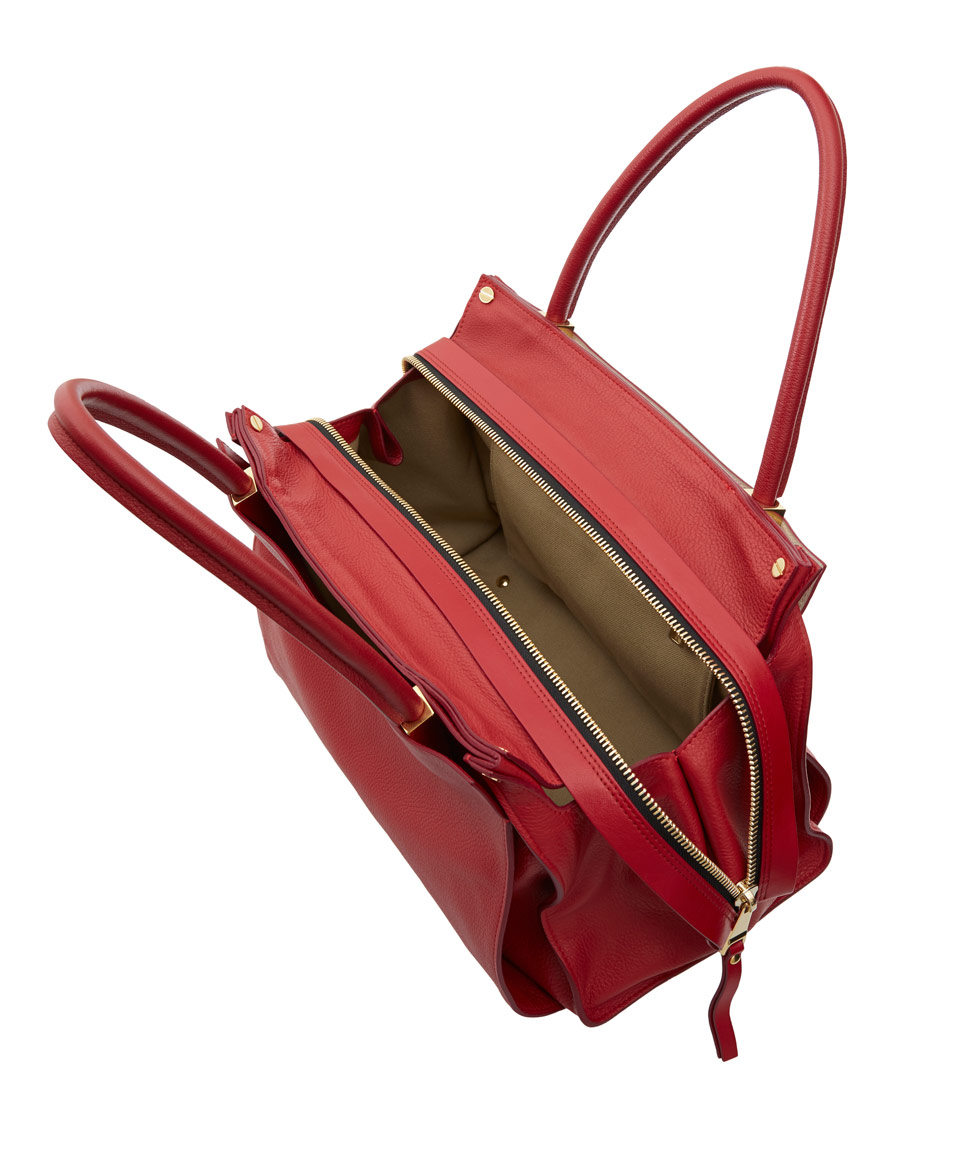 Chlo¨¦ Red Dree Zip Leather Tote Bag in Red for Men | Lyst
