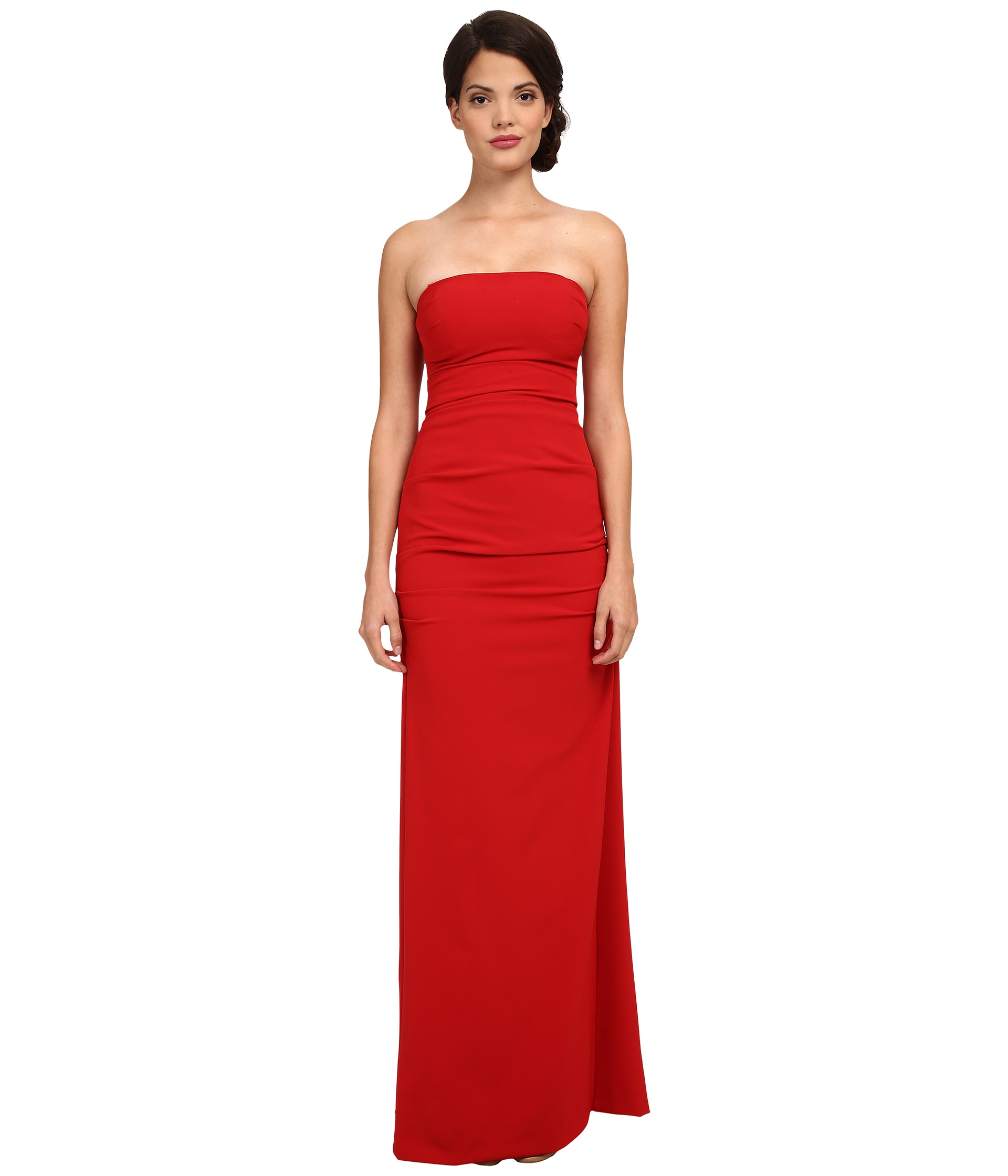 Lyst - Nicole Miller Felicity Strapless Gown in Red