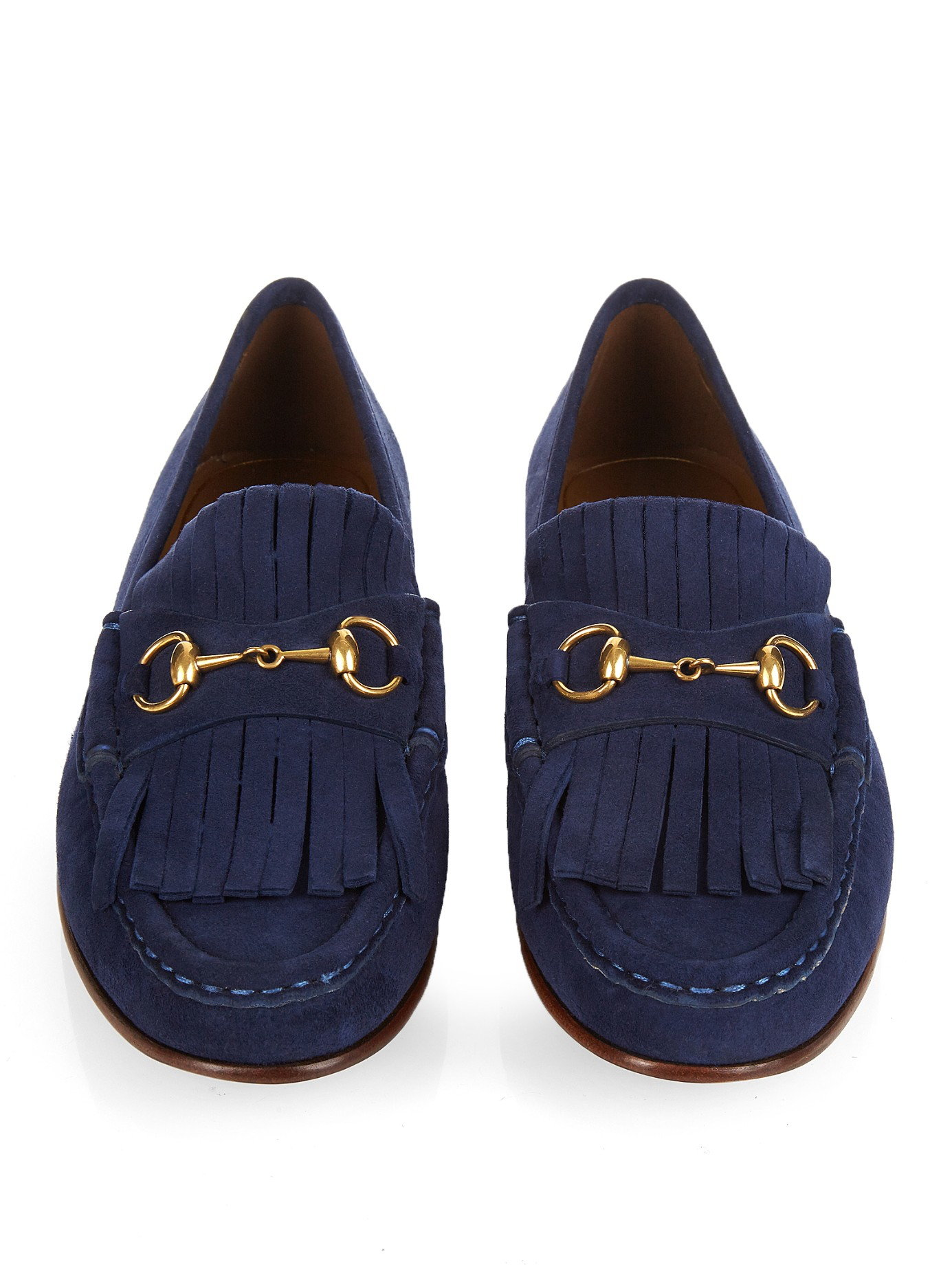 lyst gucci horsebit suede loafers in blue. Black Bedroom Furniture Sets. Home Design Ideas