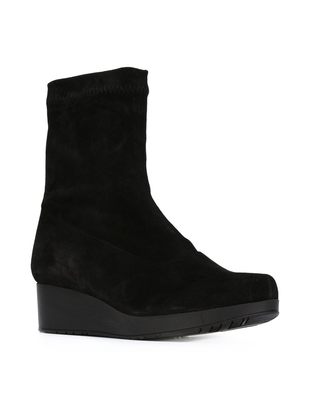 robert clergerie nerdal wedge boots in black lyst