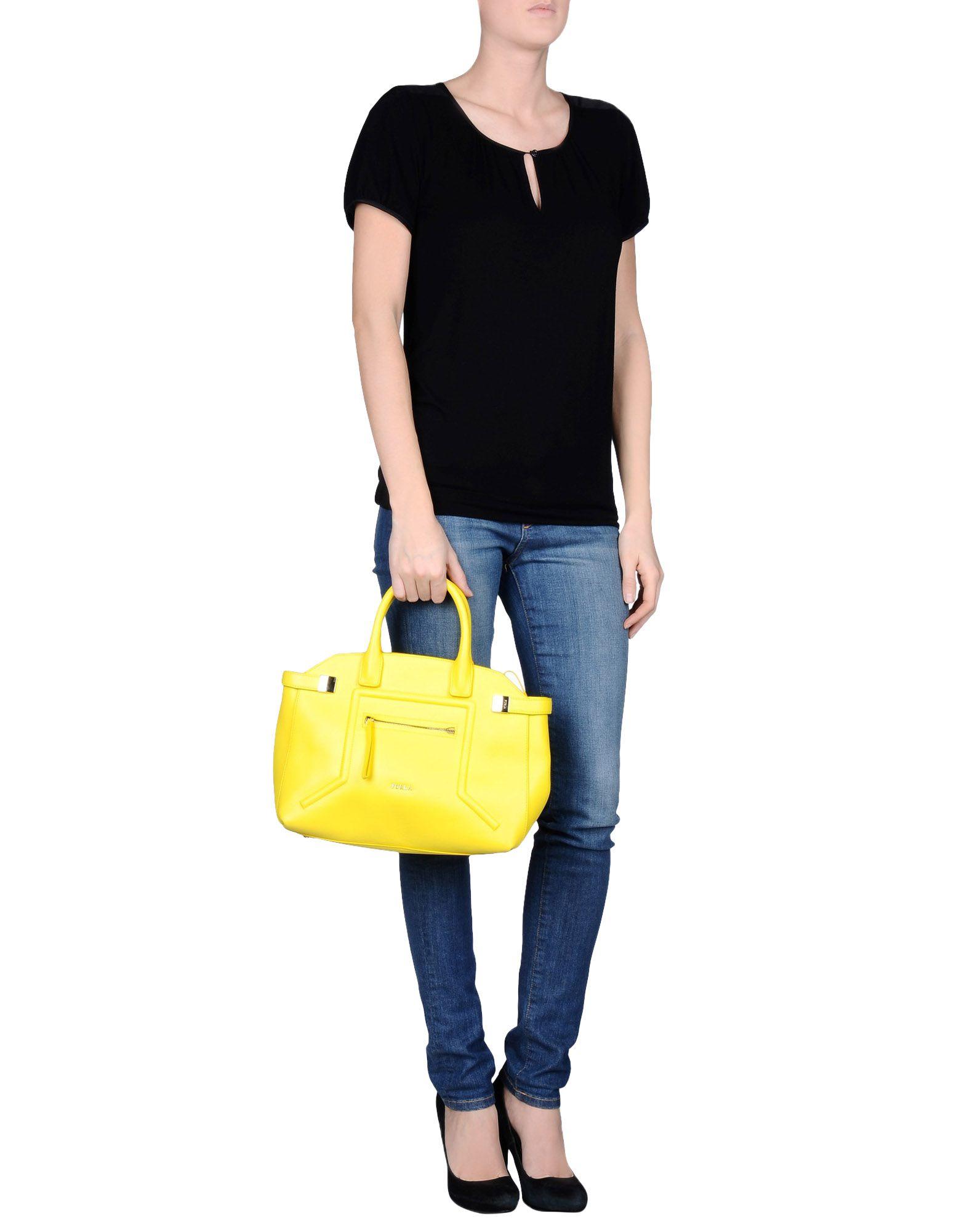 Lyst Furla Handbag In Yellow
