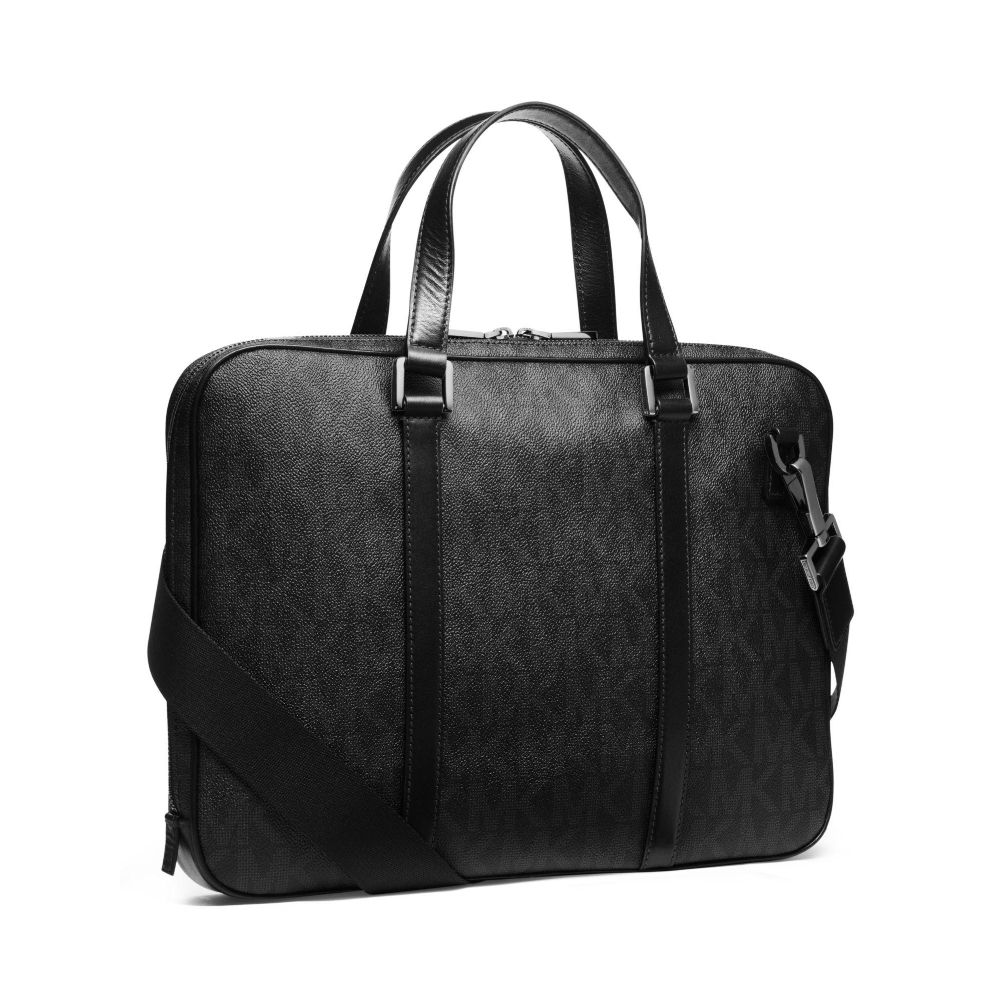 88375c2d3 ... discount code for lyst michael kors jet set mens logo briefcase in  black for men 5bd22 ...
