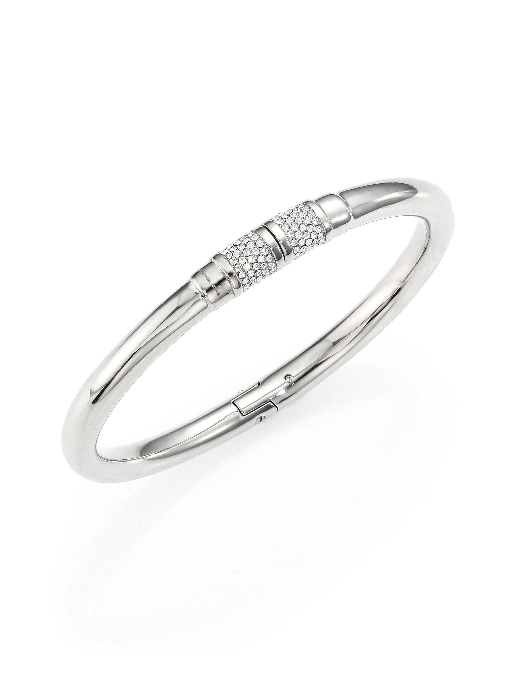 pave do new jewelry bangle bangles twist gallery lyst metallic spade in york hinged clearsilver kate the