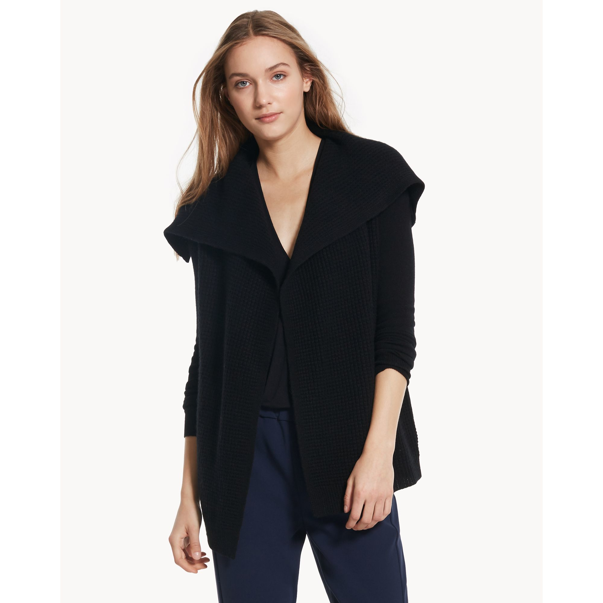 Theory Winxie D Cardigan In Cashmere in Black | Lyst