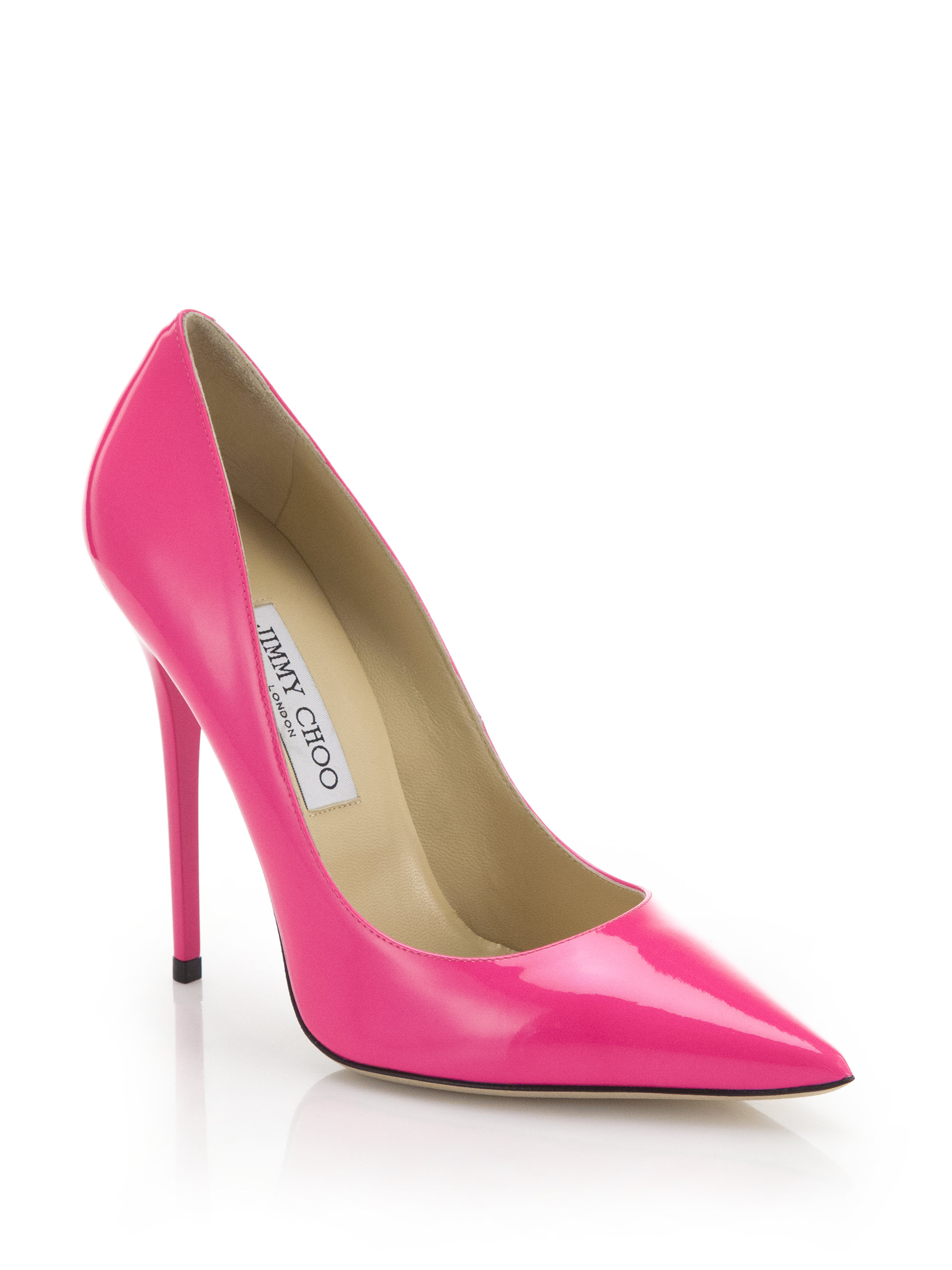 70163fcc6118 ... clearance lyst jimmy choo anouk patent leather pumps in pink 9f63e 49b10