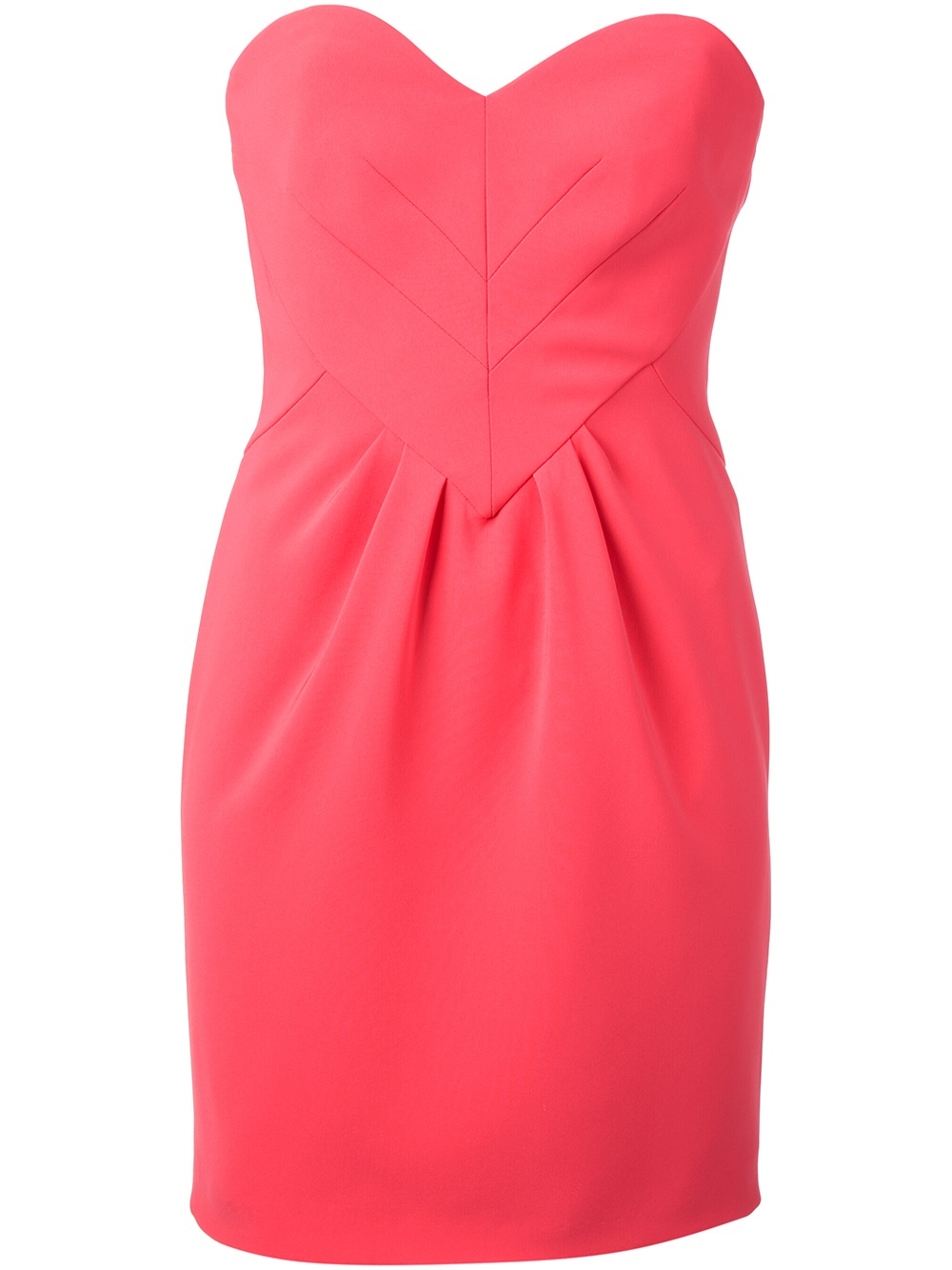 Lyst - Moschino Strapless Heart-shaped Mini Dress in Pink