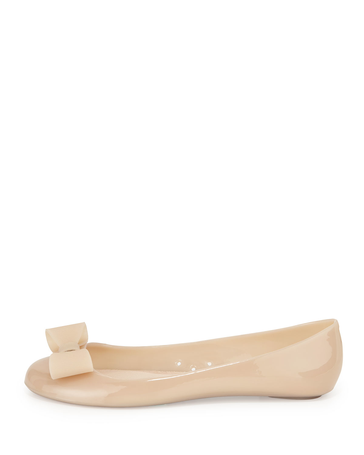 Kate spade new york jove bow jelly ballet flat in natural for Kate spade new york flats