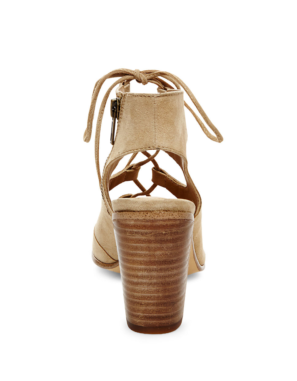 Steve Madden Nilunda Suede Lace Up Sandals In Natural Lyst