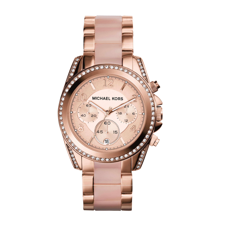 Michael kors Blair Pavé Rose Gold-tone Watch in Pink ... - photo #30