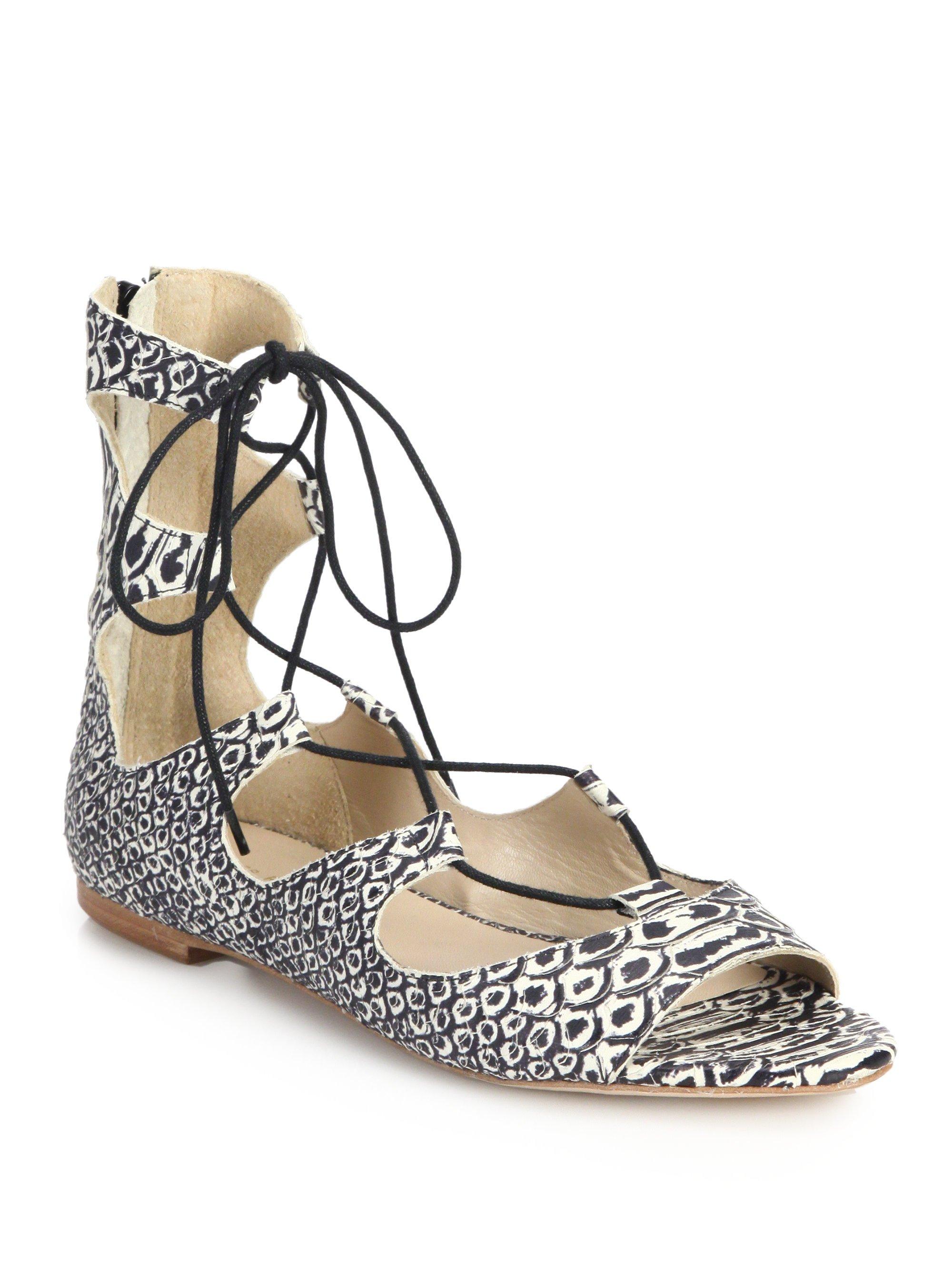 Loeffler Randall Embossed Leather Platform Sandals tumblr Jcqnl3yj