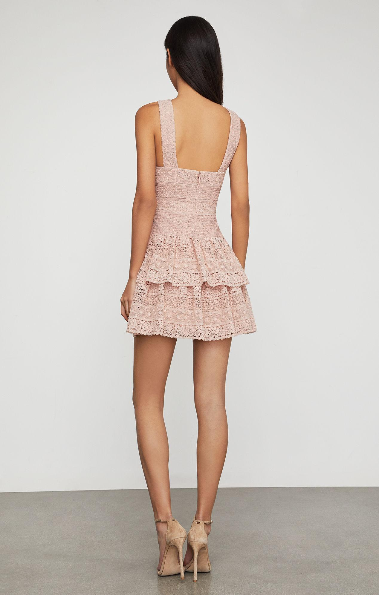 0c77f579f2f BCBGMAXAZRIA - Pink Bcbg Alissa Ruffled Lace Dress - Lyst. View fullscreen