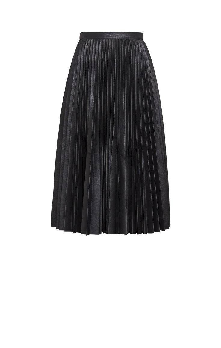 0d75595db0 Elsa Pleated Faux Leather Skirt – DACC