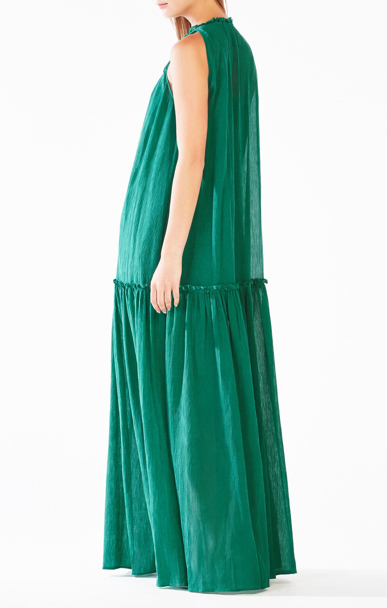 bcbgmaxazria galiana drop waist maxi dress in green lyst. Black Bedroom Furniture Sets. Home Design Ideas