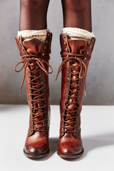 2e193d2d586aa3 Freebird by Steven Grany Lace-Up Tall Boot in Brown - Lyst