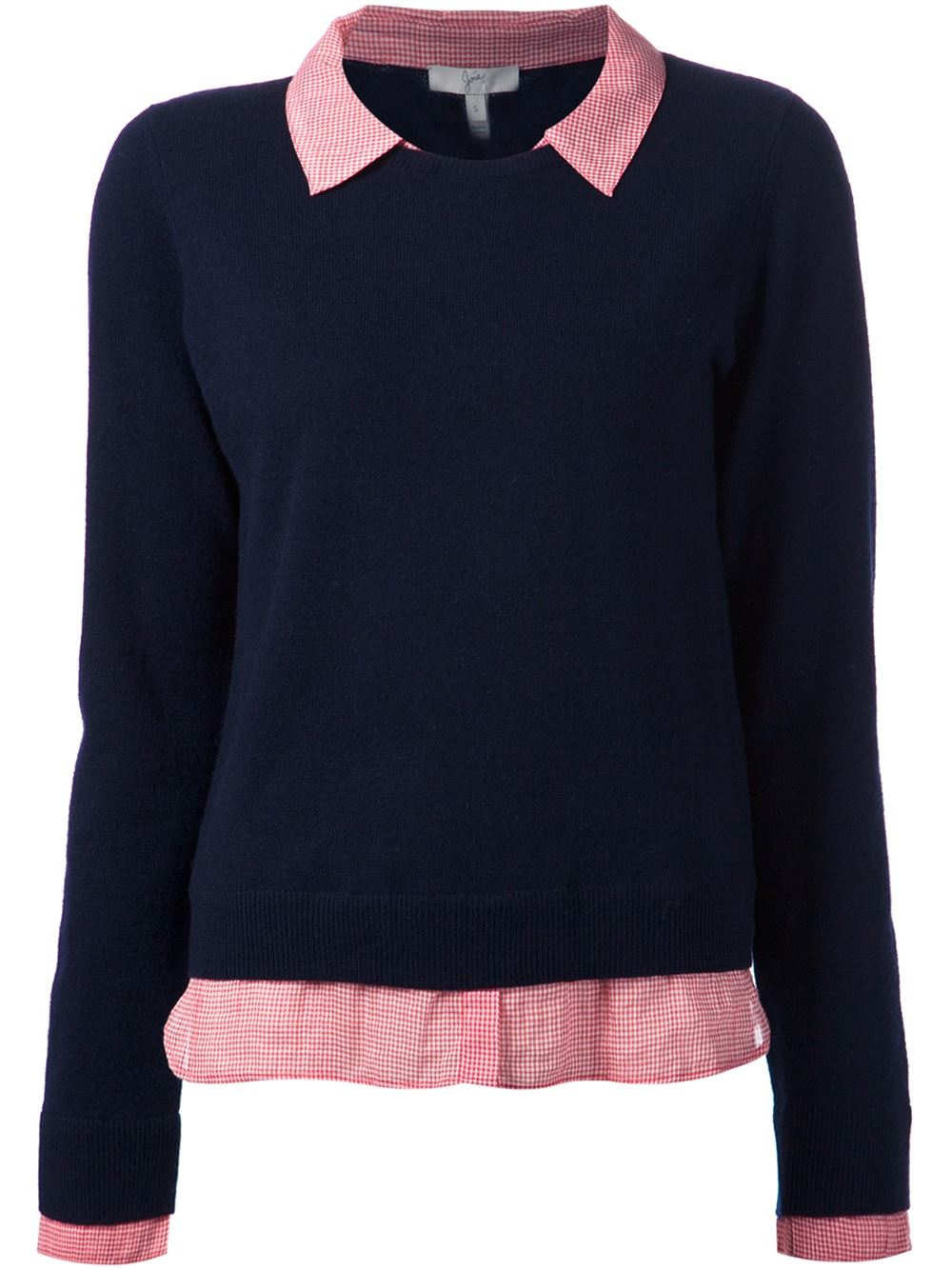 Lyst Joie Built In Shirt Sweater In Blue