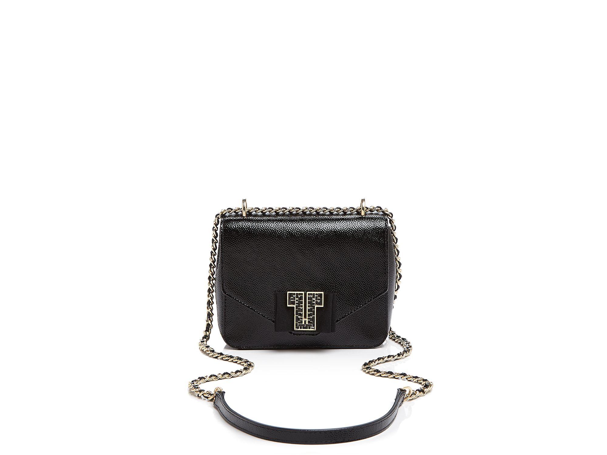 9ce35e151ea3 Lyst - Tory Burch Kira Deco-t Mini Chain Shoulder Bag in Black