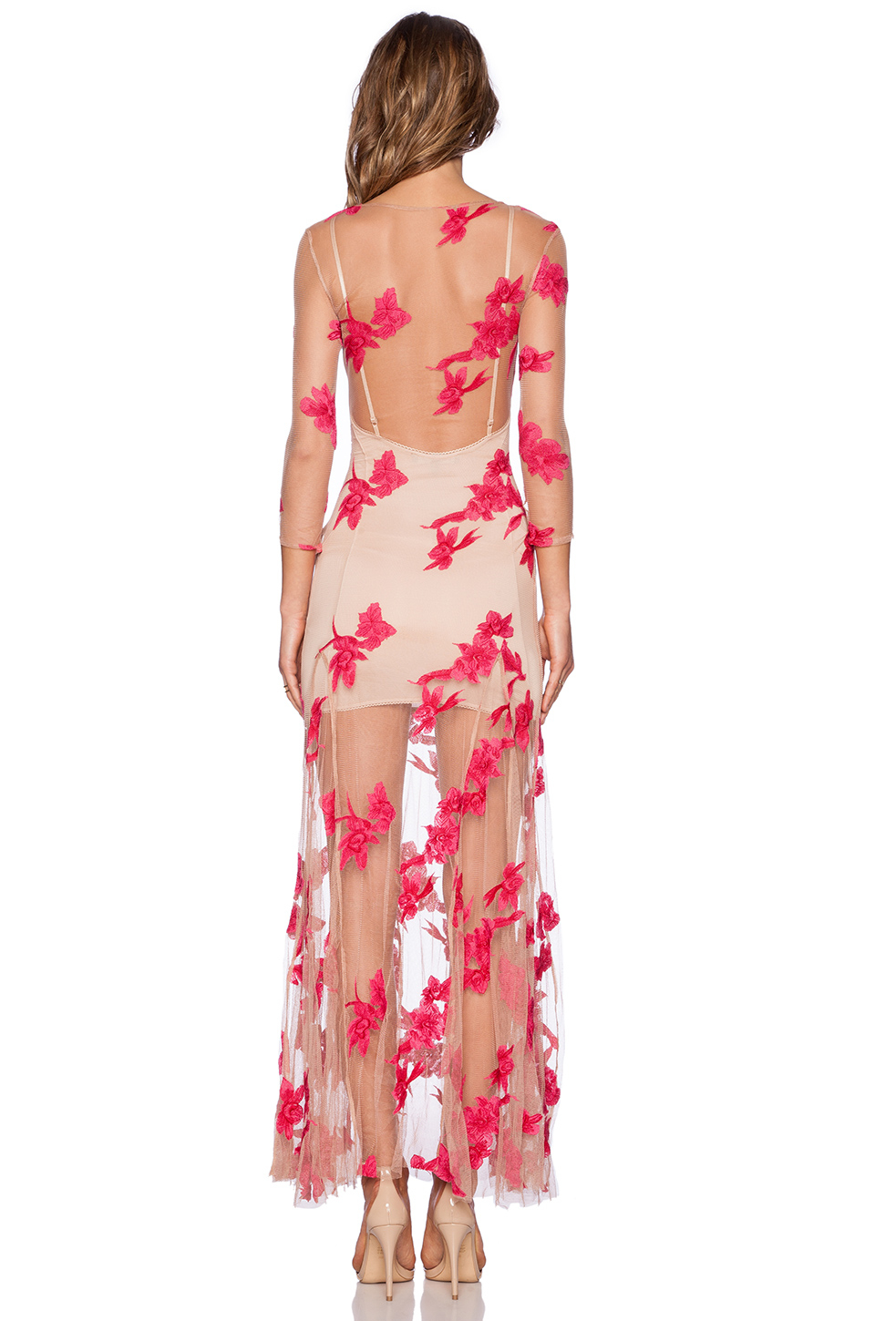 For love & lemons Orchid Maxi Dress in Pink | Lyst