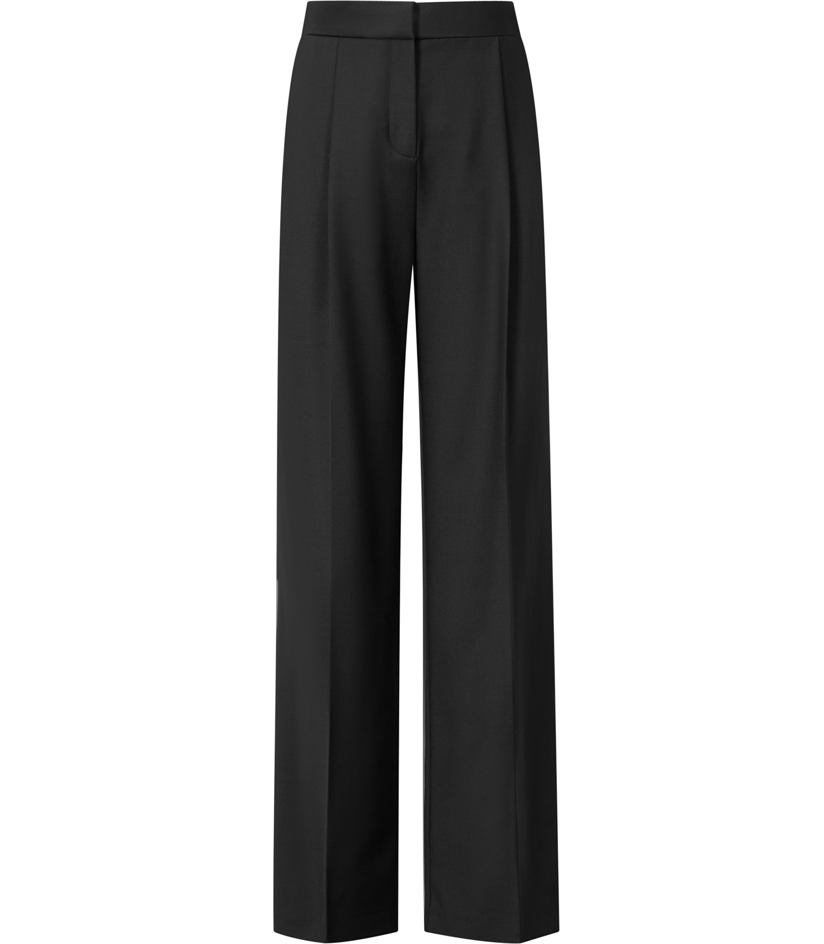 Reiss Francois High-Waisted Wide Leg Trousers in Black | Lyst