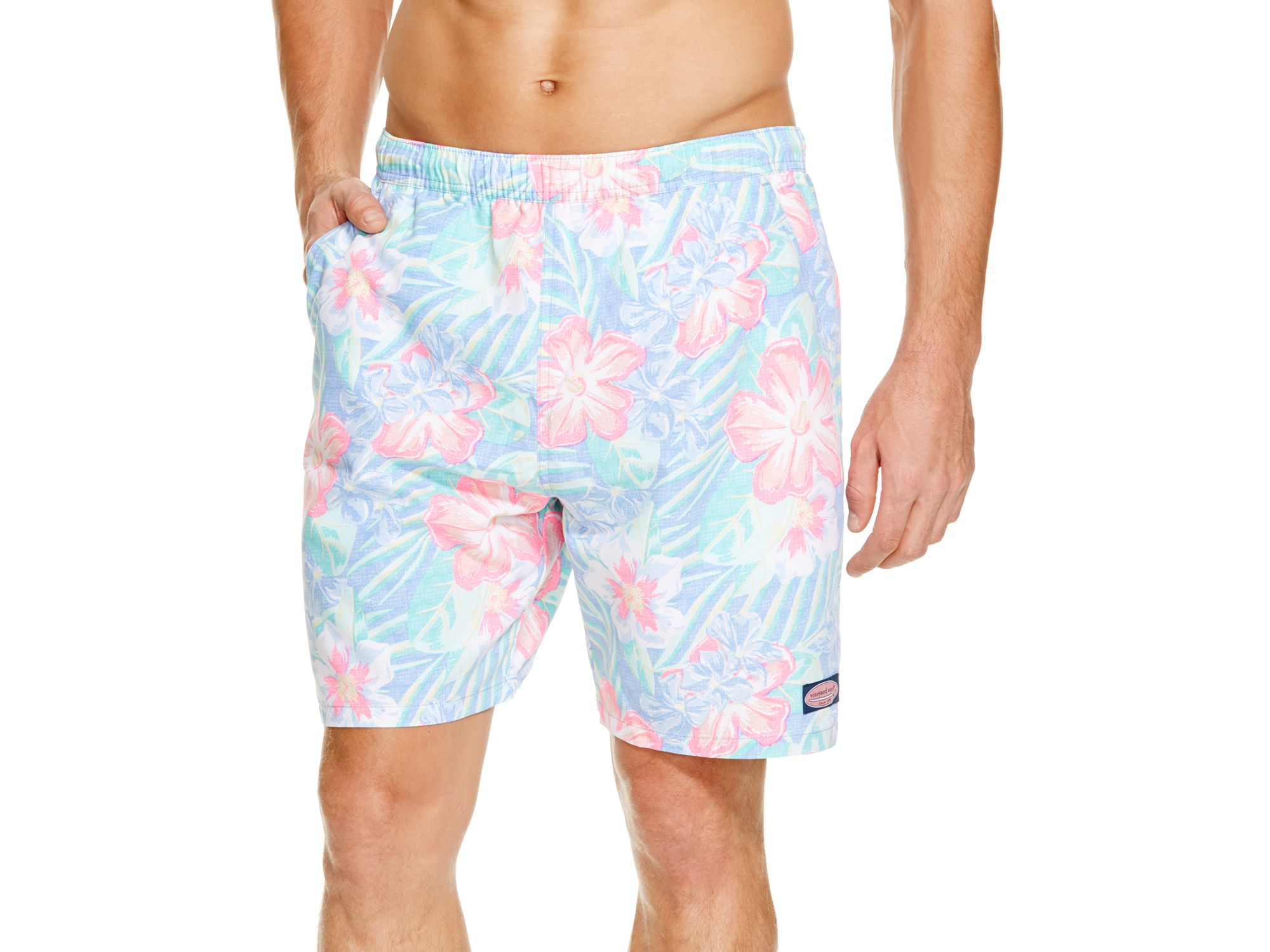 a5e45eb369431 Vineyard Vines Island Floral Chappy Swim Trunks in Blue for Men - Lyst