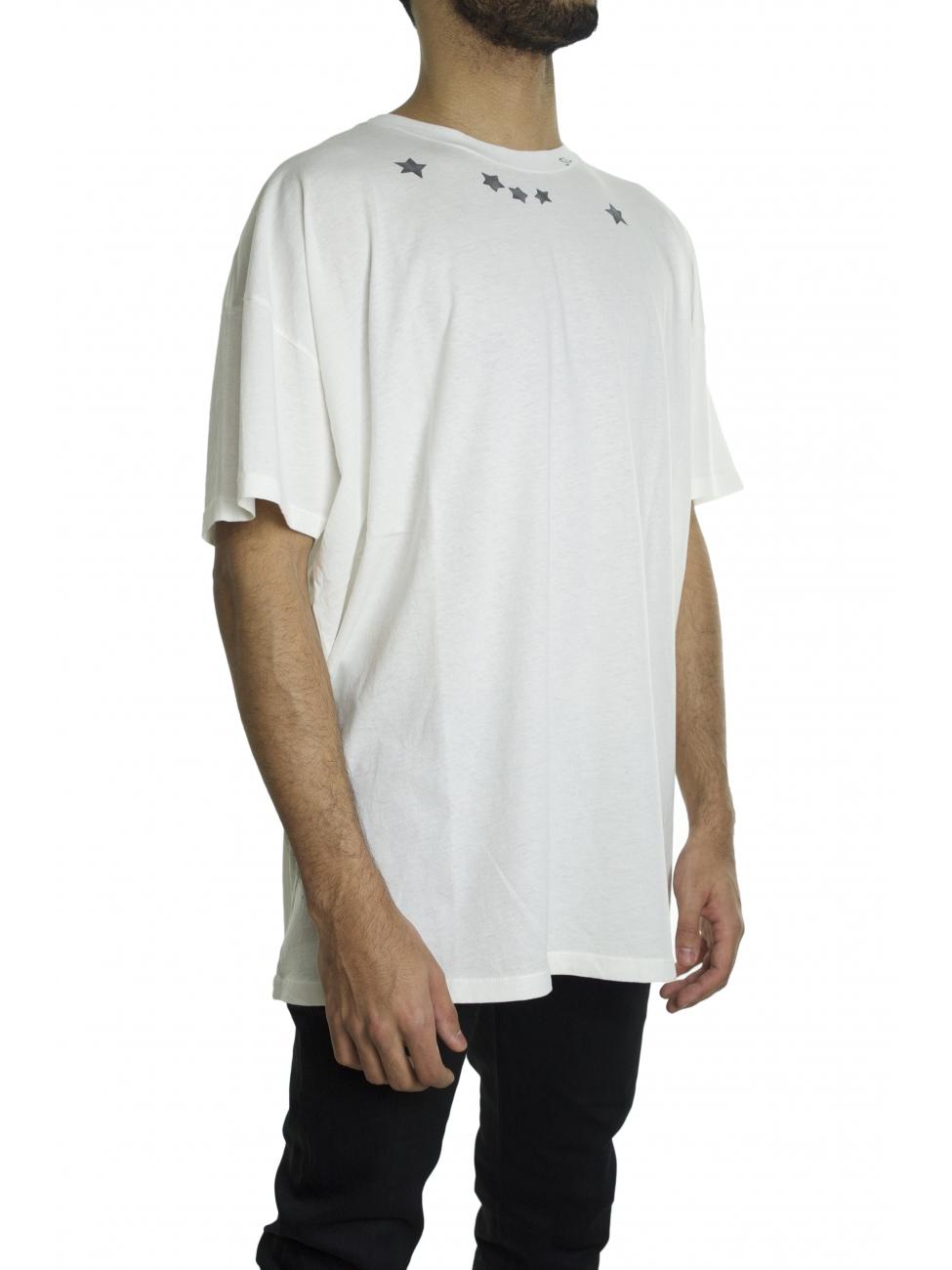 saint laurent white star t shirt in white for men lyst. Black Bedroom Furniture Sets. Home Design Ideas