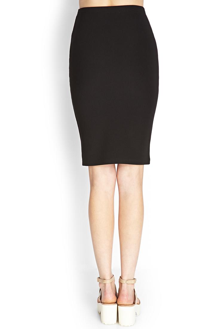 Pencil black skirt forever 21 new photo