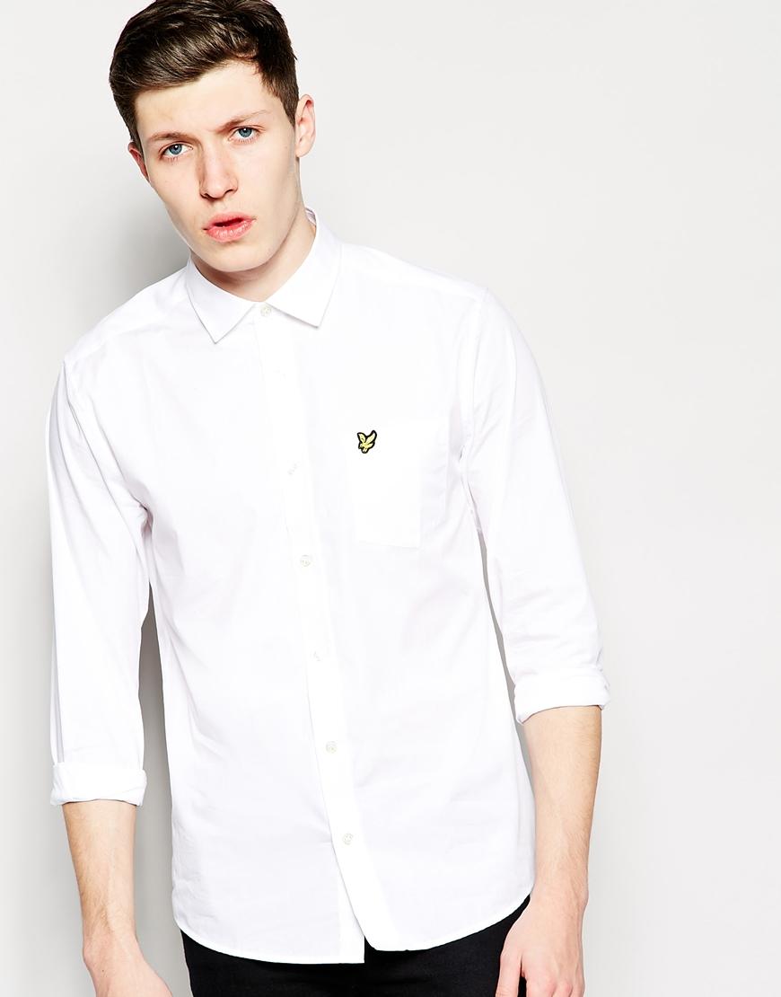 Lyle Scott Lyle Scott Shirt With Eagle Logo In White