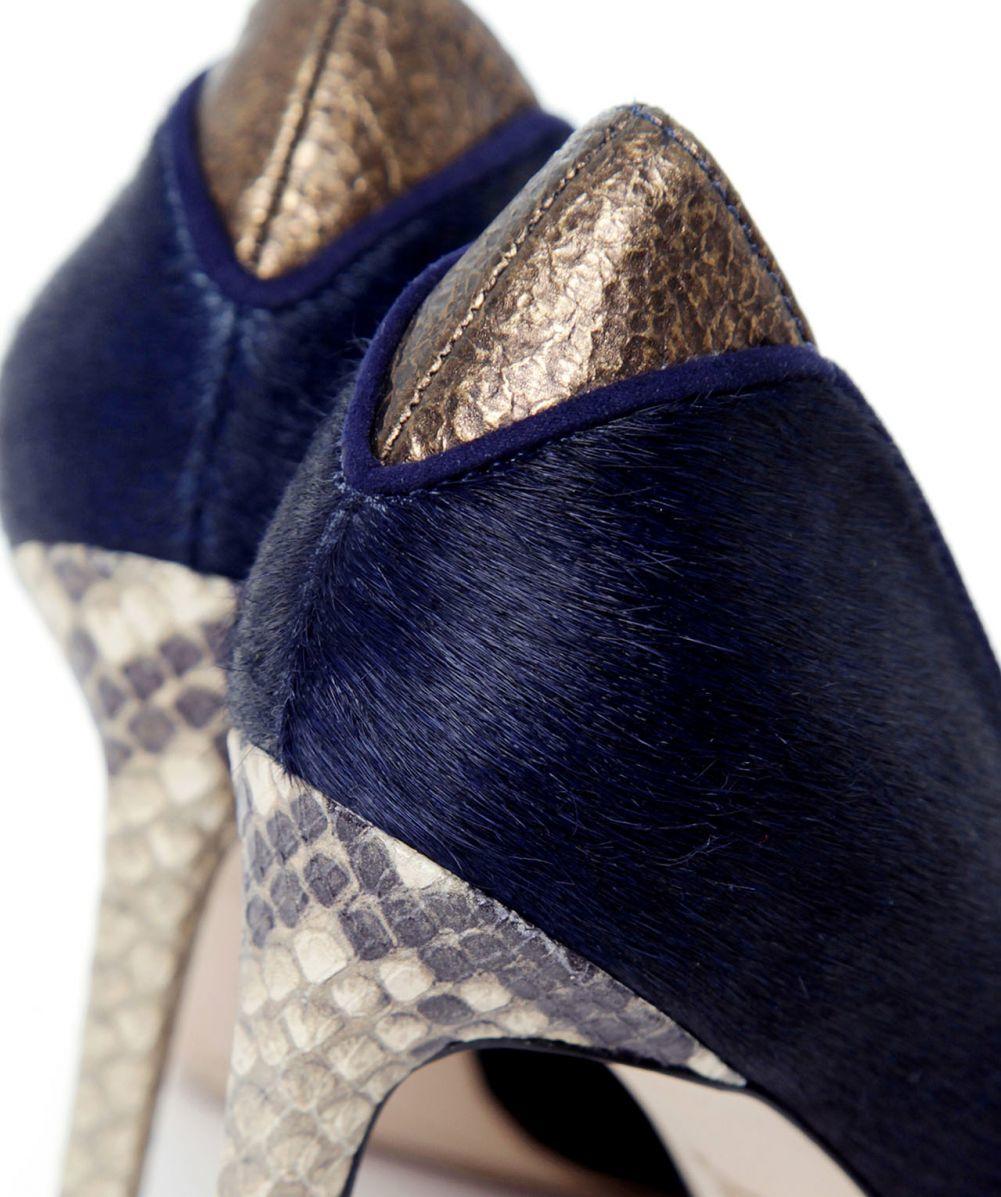 2b6790a4026c Lyst - Sam Edelman Dea Pony Hair Heel in Blue