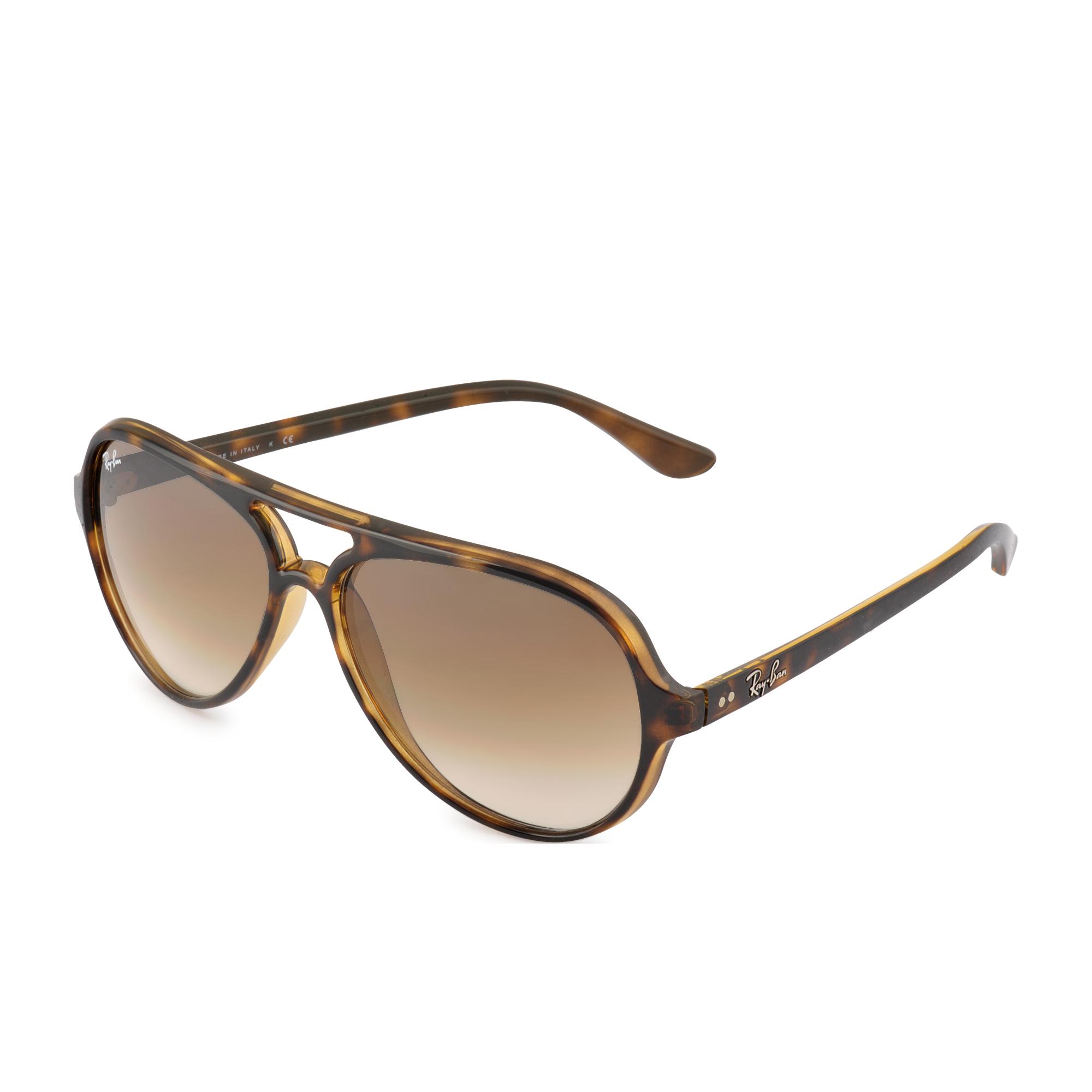ray ban rb4105 folding wayfarer  ray ban rb4057 sunglasses glossy black frame crystal green lens