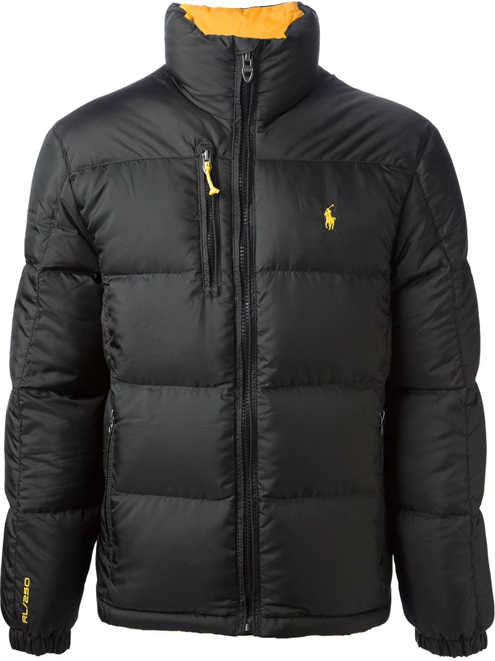 polo ralph lauren classic padded jacket in black for men. Black Bedroom Furniture Sets. Home Design Ideas