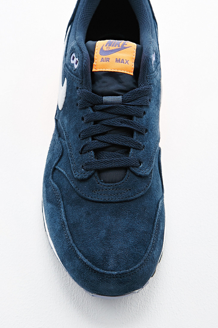 0a74f70bf0 0d723 62bcb; wholesale nike air max 1 premium suede trainers in navy in blue  for men lyst 22095
