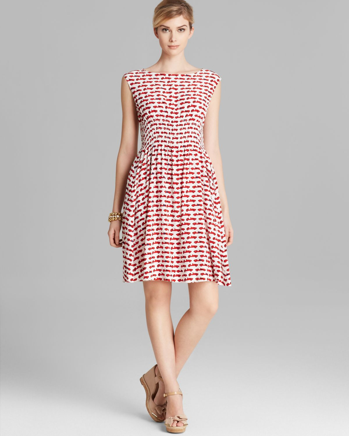 Kate Spade Blaire Dress In Red Lacquer Red Autobahn Lyst