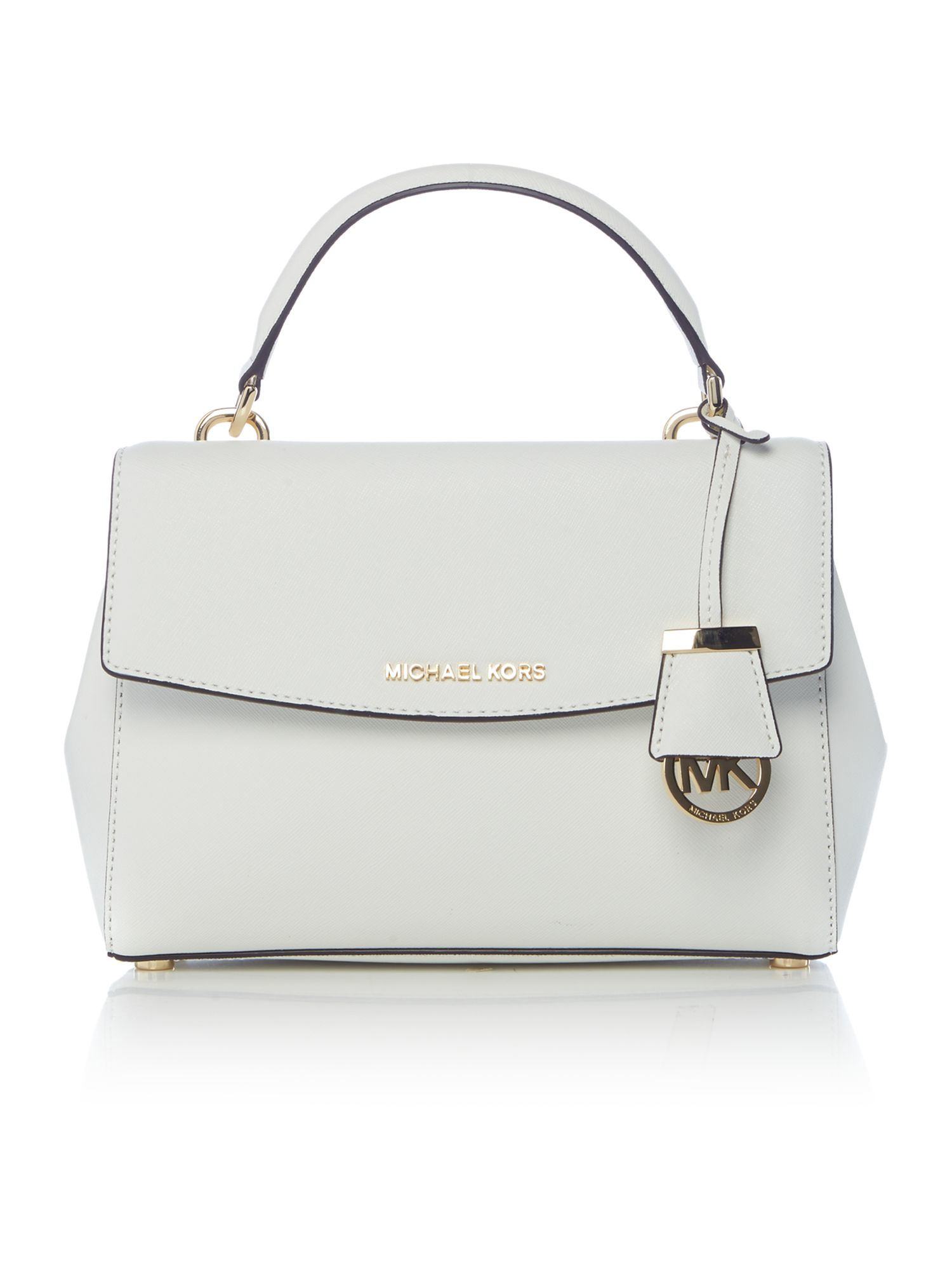 Michael kors Ava White Small Satchel Bag in White | Lyst