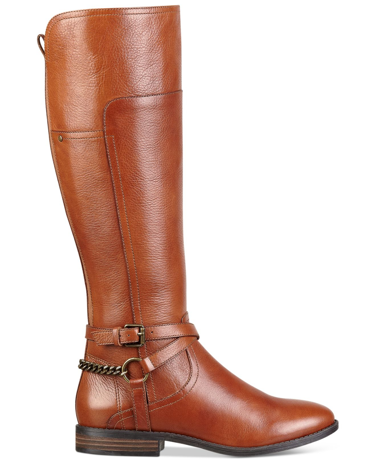 marc fisher wide calf boots in brown