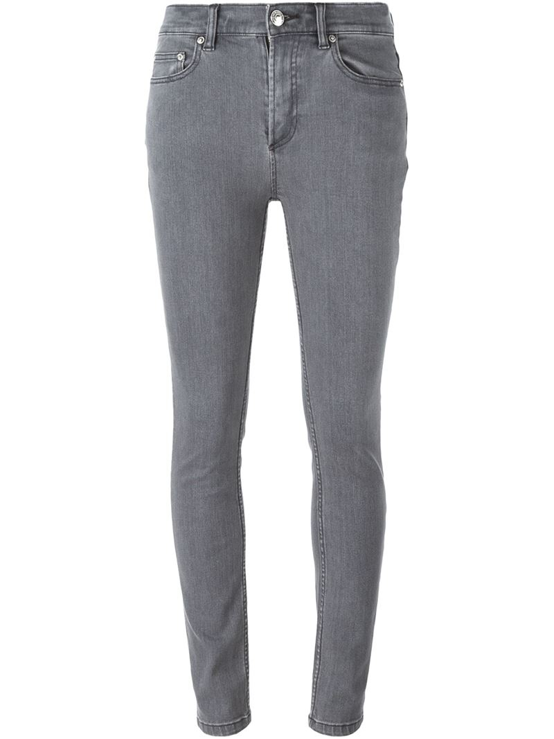 marc by marc jacobs skinny jeans in gray lyst. Black Bedroom Furniture Sets. Home Design Ideas
